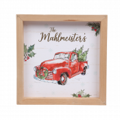 Red Truck Framed Sign for Wall or Tabletop