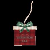 Buffalo Plaid Gift Box Ornament