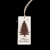 Ornament Tag Faux Wood