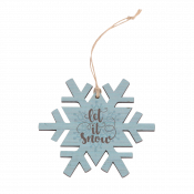 Snowflake Ornament with Snowy Design