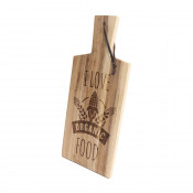 Solid Acacia Cutting Board with handle and leather hanger
