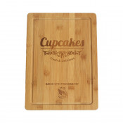 Solid Bamboo Cutting Board with juice groove
