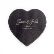 "9.84"" x 9.84"" Heart Slate Table Mat"