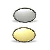 "Image Maker 1.5"" x 2.385"" Oval Jeweled Badge Frame"