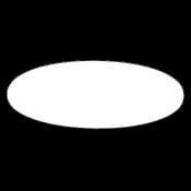 "Image Maker Unisub White 1.55"" x 2.385"" Aluminum Oval"