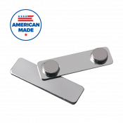 "J69 1/2"" x 1-3/4"" Plated Magnetic Badge Finding"