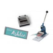 "Punch N Press Kit (.87"" x 2.51"" Matte Silver Name Badge)"