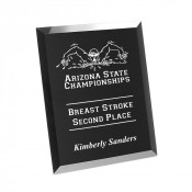 "Black 6"" x 8"" Glass Bevel Plaque"
