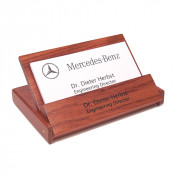 Rosewood Folding Business Card Holder