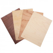 "8"" x 11"" Wood Thins Sample Pack (8 Wood Sheets with Adhesive Back)"