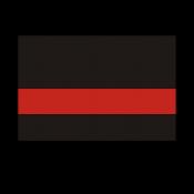 """Rowmark LaserMax Varsity Black/Red 1/16"""" Engraving Plastic"""