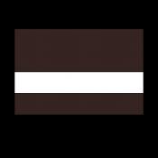 """Rowmark LaserMax Dark Brown/White 1/16"""" Engraving Plastic"""