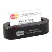 Black Marble Oval Business Card Holder