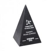 Black Marble Pyramid - Medium