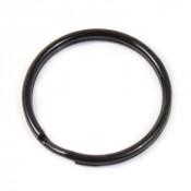 "1-1/4"" Black Oval Split Key Ring"