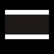 Norplex White/Black/White Phenolic
