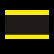 """Norplex Yellow/Black/Yellow 1/16"""" Phenolic"""