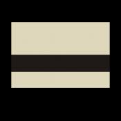 "Rowmark Printmark Gloss Almond/Black 1/16"" Engraving Plastic for ID Card Printers"