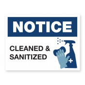 JPPLUS Clean & Sanitized Ready Made Sign