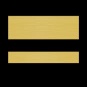 "Rowmark Printmark II Brushed Gold/Black .052"" Engraving Plastic for ID Card Printers"