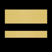 "Rowmark Printmark II Brushed European Gold/Black .052"" Engraving Plastic for ID Card Printers"