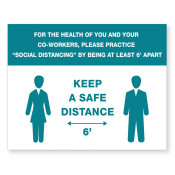 JPPLUS Safe Distance Ready Made Sign