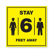 JPPLUS Stay 6ft Ready Made Sign