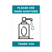 "JPPlus 4"" x 6"" Hand Sanitizer Ready Made Sign"
