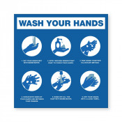 JPPLUS Hand Washing Steps Ready Made Sign