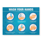 JPPLUS Steps for Hand Washing Ready Made Sign