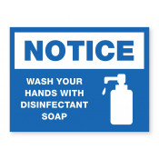 JPPLUS Wash Hands, Disinfectant Ready Made Sign