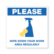 JPPLUS Wipe Area Ready Made Sign