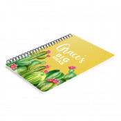 Glossy A5 Plastic Cover Notebook with Paper
