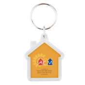 Punch N Press Clear House Acrylic Key Chain (2-Sided)