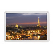 "Punch N Press Clear 2.76"" x 1.77"" Rectangle Acrylic Magnet"