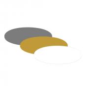 "Oval 1.5"" x 3"" x .060"" Print Receptive Blank PVC Card"