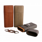 Saddle Collection Cigar Holder with Cutter