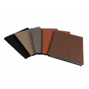 "Saddle Collection 7"" x 9"" Laserable Leather-Like Notebook"