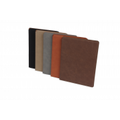 "Saddle Collection 7"" x 9"" Laserable Leather-Like Portfolio"
