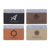 "Saddle Collection 5.5"" x 4"" Laserable Leather-Like Card Sleeve"