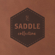 "Saddle Collection Chestnut 12"" x 24"" Leather-Like Sheet"