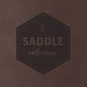 "Saddle Collection Bay Brown 12"" x 24"" Leather-Like Sheet"