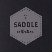 "Saddle Collection Black 12"" x 24"" Leather-Like Sheet"