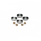 MBS Satin Stainless Steel Screw Caps