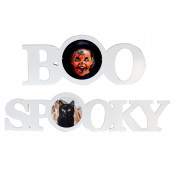 Halloween Wood Photo Block with Sublimatable Plate
