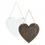 "Hanging Heart Sign with 6.8"" x 7"" Printable Area"