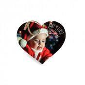 "5"" Heart Double Sided Slate Ornament"