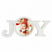 """12"""" White Wooden Joy Photo  Block with Sublimatable Plate"""