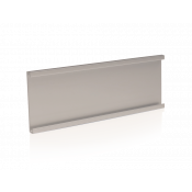"""Simply Satin Silver 2"""" x 6"""" Wall Holder for 1/16"""" Thick Material (No Holes)"""