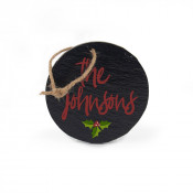 """4"""" Round Slate Double Sided Ornament"""